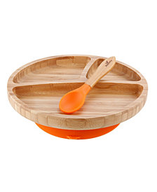 Avanchy Bamboo Suction Toddler Plate + Spoon