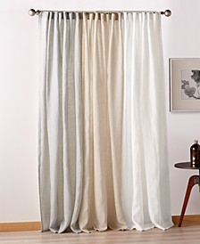 PURE City Linen Backtab Window Panels, Set of 2
