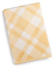 "Plaid Cotton 30"" x 56"" Bath Towel, Created for Macy's"