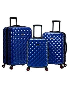 Quilt 3-Pc. Hardside Luggage Set