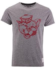 Retro Brand Men's Washington State Cougars Retro Logo Tri-blend T-Shirt