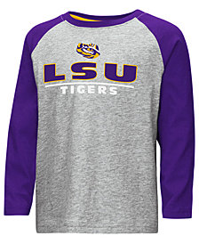 Colosseum LSU Tigers Long Sleeve Raglan T-Shirt, Toddler Boys (2T-4T)