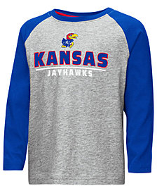 Colosseum Kansas Jayhawks Long Sleeve Raglan T-Shirt, Toddler Boys (2T-4T)