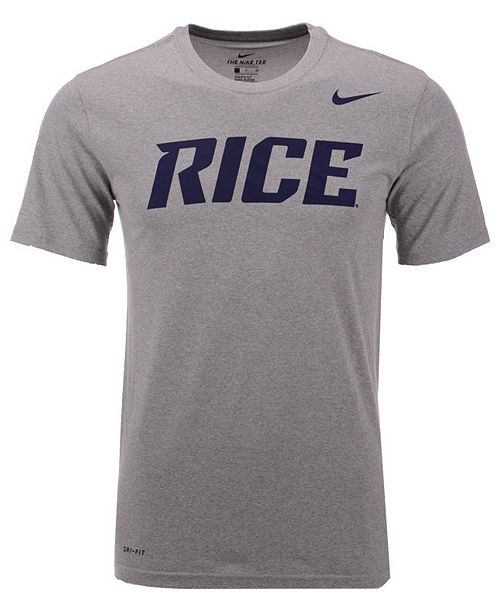 Nike Men's Rice Owls Dri-Fit Legend Wordmark T-Shirt