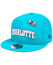 New Era Charlotte Hornets Hardwood Classic Nights Pin 9FIFTY Snapback Cap