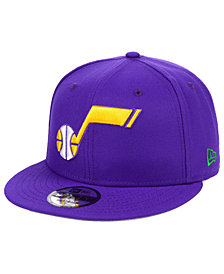 New Era Utah Jazz Hardwood Classic Nights Pin 9FIFTY Snapback Cap