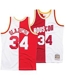 Men's Hakeem Olajuwon Houston Rockets Split Swingman Jersey