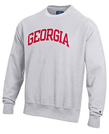 Champion Men's Georgia Bulldogs Reverse Weave Crew Sweatshirt