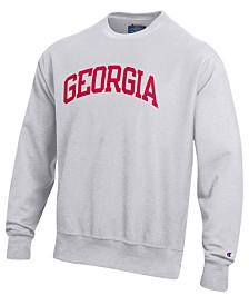 Champion Men's Georgia Bulldogs Reverse Weave Crew Sweatshirt