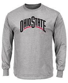 Profile Men's Big & Tall Ohio State Buckeyes Wordmark Long Sleeve T-Shirt