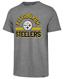 '47 Brand Men's Pittsburgh Steelers Team Stripe Match Tri-blend T-Shirt