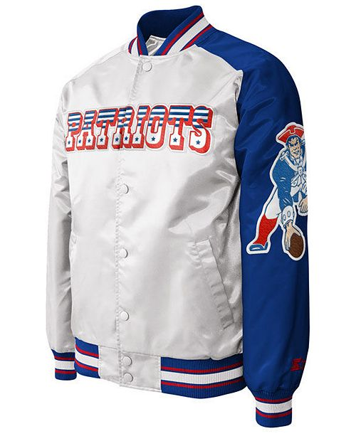 G-III Sports Men's New England Patriots Starter Dugout Championship Satin Jacket