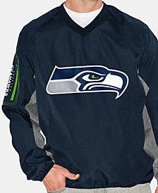 G-III Sports Men's Seattle Seahawks Gridiron Player Lightweight Pullover Jacket