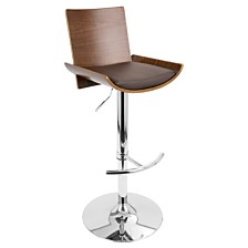 Lumisource Vittorio Adjustable Barstool with Swivel