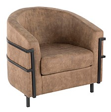 Colby Tub Chair in with Stone Cowboy Fabric