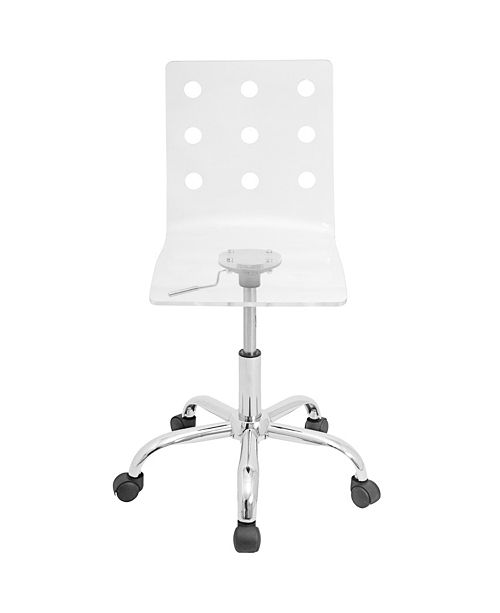 Lumisource Swiss Adjustable Office Chair with Swivel in Clear Acrylic