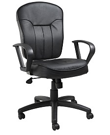 Boss Office Products Button Tufted Executive Chair With Knee Tilt