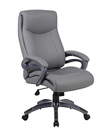 Boss Office Products Pillow Top Executive Chair with Padded Arms