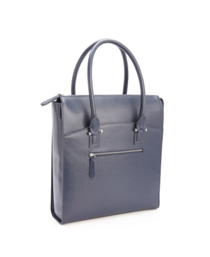 Royce Rfid Blocking Travel Carryall Laptop Tote Bag in Saffiano Leather