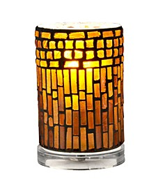 "Calico 6.75""H Mosaic Accent Lamp"