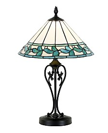 Dale Tiffany Green Leaves Led Tiffany Table Lamp