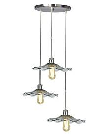 "Dale Tiffany Almond 18""W 3-Light Art Glass Pendant"