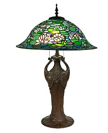"Dale Tiffany Ren 35""H Tiffany Table Lamp"