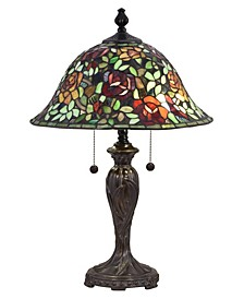 Rose Collage Tiffany Table Lamp
