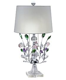 Dale Tiffany Vibrant Blossom Crystal Table Lamp