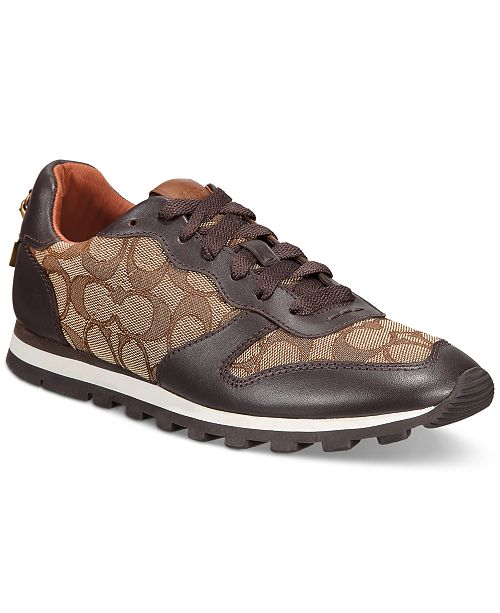 COACH Women's Leather Signature Jogger Sneakers