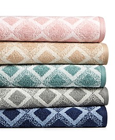 Tile Diamond Cotton Bath Towel Collection, Created for Macy's
