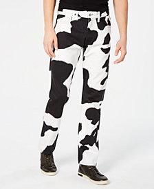 Calvin Klein Jeans Men's 035 Straight-Fit Black & White Jeans