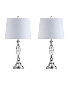 Reid Crystal Led Table Lamp, Set Of 2