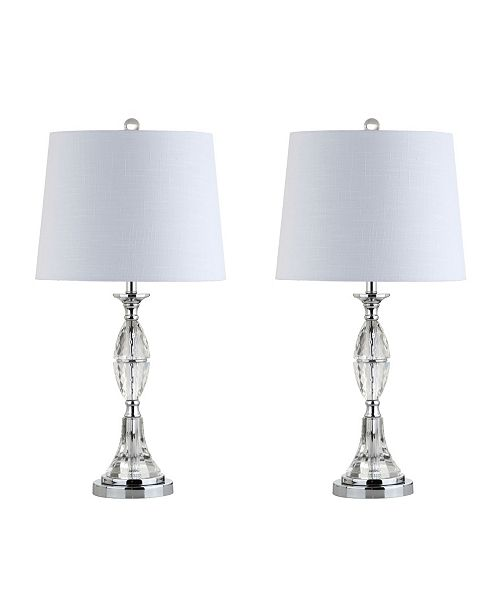 Jonathan Y Reid Crystal Led Table Lamp Set Of 2 Home Macy S