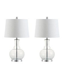 Lavelle Glass Led Table Lamp, Set Of 2
