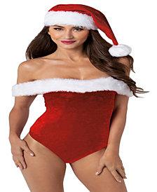 Santa Themed Velvet Teddy