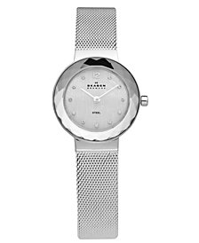 Skagen Women's Leonora Stainless Steel Mesh Bracelet Watch 25mm 456SSS