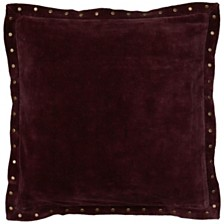 """Rizzy Home Solid 18"""" x 18"""" Pillow Cover"""