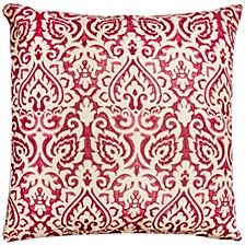 "22"" x 22"" Damask Pillow Cover"