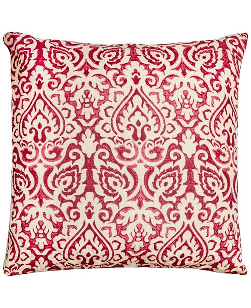 "Rizzy Home 22"" x 22"" Damask Pillow Cover"