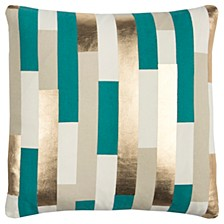 "Rachel Kate 20"" x 20"" Striped Pillow Cover"