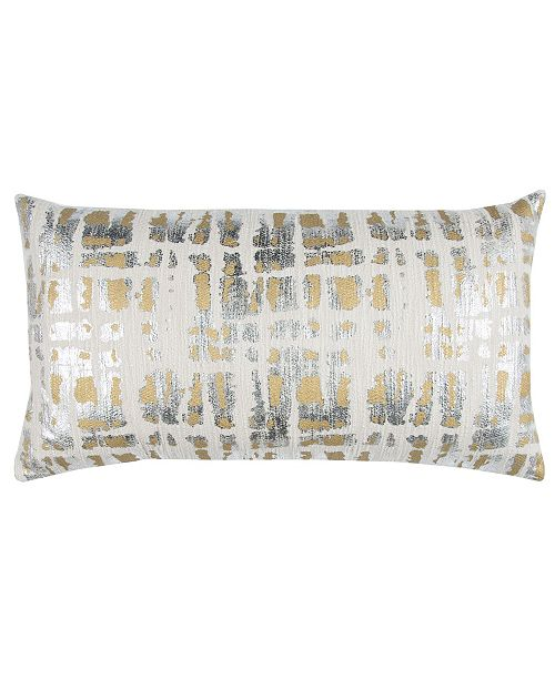 """Rizzy Home Donny Osmond 14"""" x 26"""" Abstract Design Pillow Cover"""