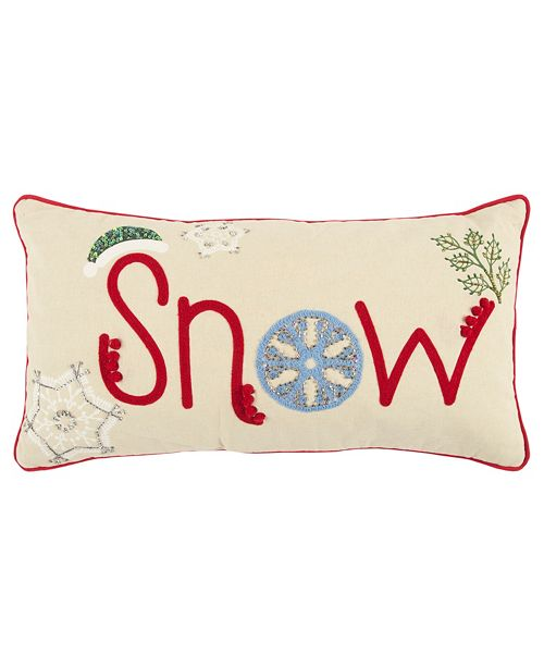 "Rizzy Home 11"" x 21"" Snow Pillow Cover"