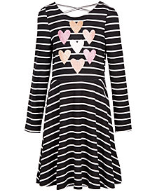 Epic Threads Big Girls Stripes & Hearts Dress, Created for Macy's