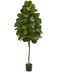 Nearly Natural 6' Fiddle Leaf Fig Artificial Tree