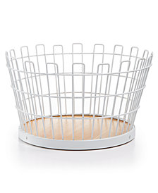 Martha Stewart Collection Small White Wire Basket, Created for Macy's