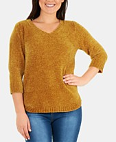 6ba91b968b NY Collection Chenille V-Neck Sweater. Quickview. 2 colors