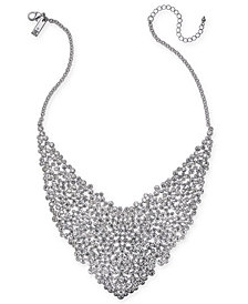 """I.N.C. Silver-Tone Crystal Statement Necklace, 15"""" + 3"""" extender, Created for Macy's"""