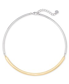 """Alfani Two-Tone Colorblock Collar Necklace, 20"""" + 2"""" extender, Created for Macy's"""