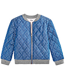 Epic Threads Little Girls Follow Your Heart Bomber Jacket, Created for Macy's
